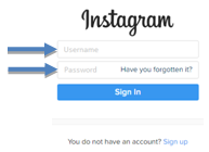 type your username and password